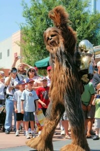 Chewbacca in the Star Wars Parade